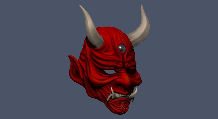 Devil Mask-Hannya Mask-Samurai Mask-Satan mask for cosplay 3D Print 241133