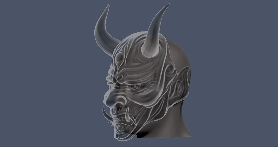 Devil Mask-Hannya Mask-Samurai Mask-Satan mask for cosplay 3D Print 241134