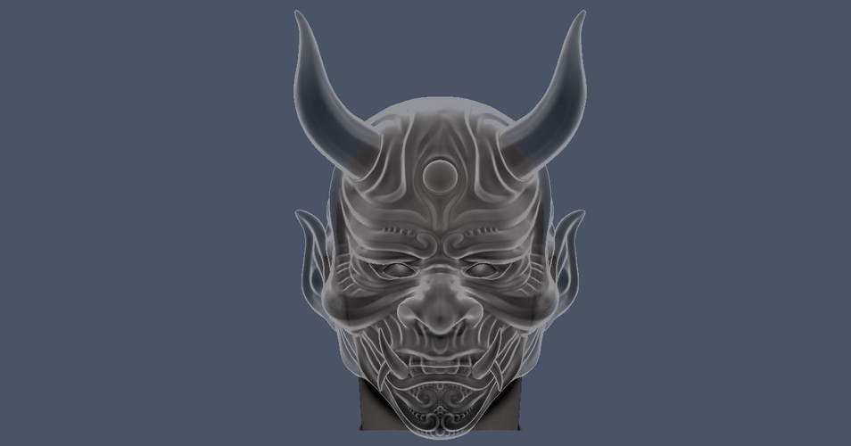 Devil Mask-Hannya Mask-Samurai Mask-Satan mask for cosplay 3D Print 241135
