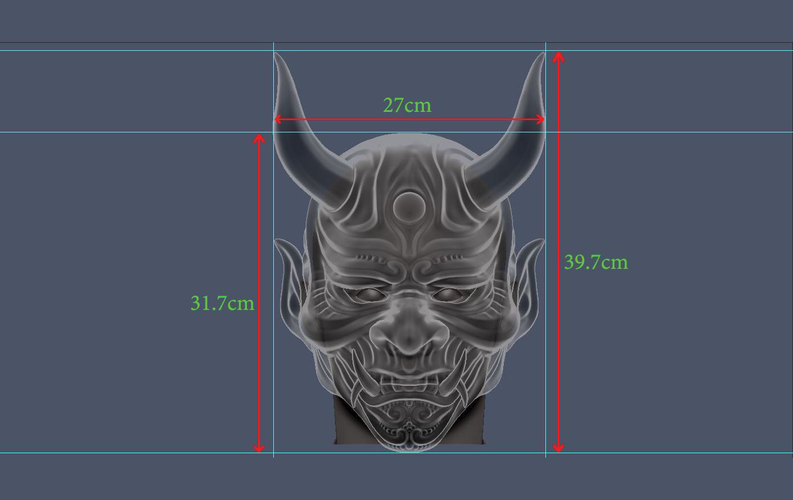 Devil Mask-Hannya Mask-Samurai Mask-Satan mask for cosplay 3D Print 241137