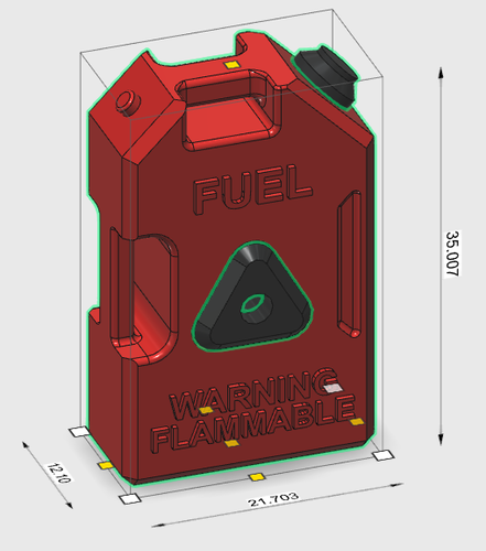 Fuel can set v3 scale 1/10 3D Print 241202