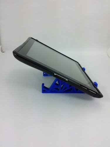 Triangles Tablet Stand 3D Print 24125