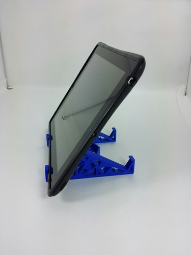 Triangles Tablet Stand 3D Print 24126