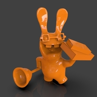 Small ​Raving Rabbids Reader 3D Printing 241339