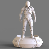 Small Cyborg Sculpture 3D Printing 241360