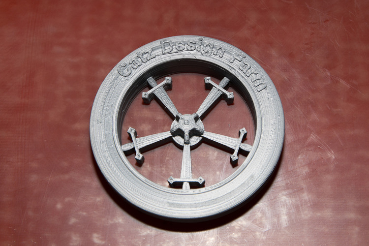 Sword Wheel pencil holder cap 3D Print 24143