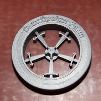 Small Sword Wheel pencil holder cap 3D Printing 24143