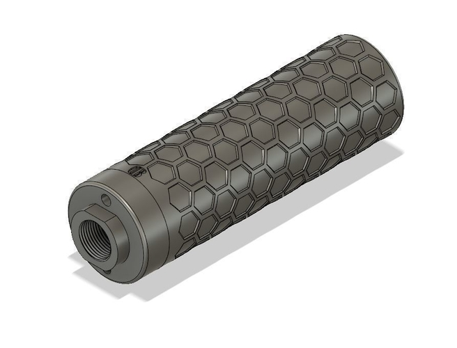 4.5 Inch Honeycomb Suppressor for Airsoft 3D Print 241483
