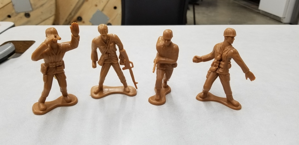 Toy Soldier scans (4 soldiers)  3D Print 241731