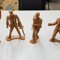 Small Toy Soldier scans (4 soldiers)  3D Printing 241731
