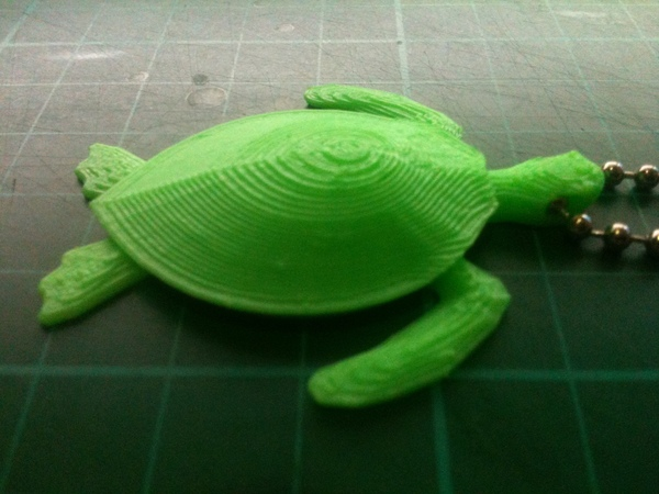 Medium Sea Turtle Keychain 3D Printing 24186