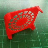 Small Flashforge Creator Fan Grill - 40mm 3D Printing 24196