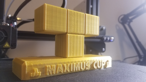 Medium Nintendo Switch - Tetris 99 - Maximus Cup Trophy  3D Printing 242074