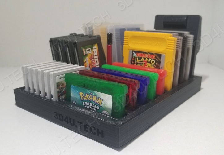 Gameboy Game Holder & Storage (Includes GB/GBA/3DS)  3D Print 242087