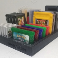 Small Gameboy Game Holder & Storage (Includes GB/GBA/3DS)  3D Printing 242087
