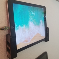 Small IOS/Android Tablet & Phone Simple Wall Mount (Ipad/Samsung etc)  3D Printing 242089