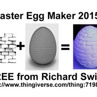 Small Easter Egg Maker 2015 3D Printing 24212