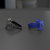 Small Owl Ring 3D Printing 242251
