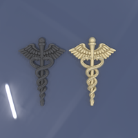 Small Caduceus 3D Printing 242257