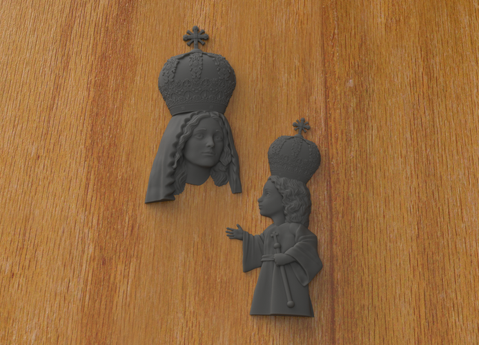 Mary and Jesus 3D Print 242261