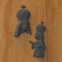 Small Mary and Jesus 3D Printing 242261