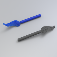Small Wing for casting 3D Printing 242263
