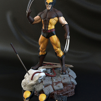 Small Wolverine classic with 3 interchangeable heads  3D Printing 242310