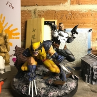 Small Wolverine and Punisher Diorama  3D Printing 242328