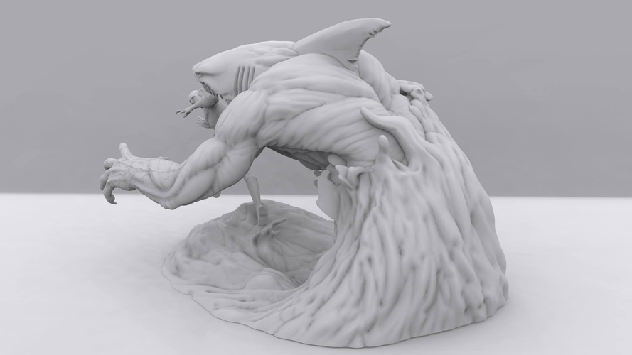 Flash vs the King Shark 3D Print 242336