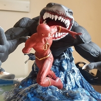 Small Flash vs the King Shark 3D Printing 242337