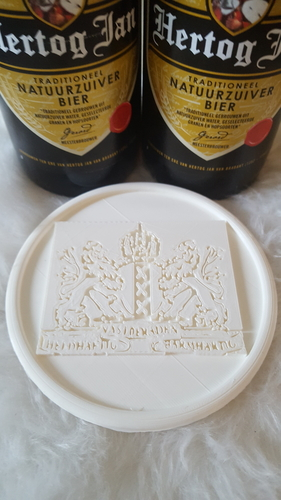 Coat of arms of Amsterdam coaster 3D Print 242512