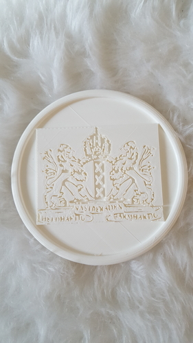 Coat of arms of Amsterdam coaster 3D Print 242513
