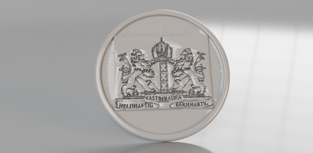 Coat of arms of Amsterdam coaster 3D Print 242514