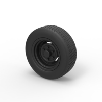 Small Diecast Car wheel 2 3D Printing 242515