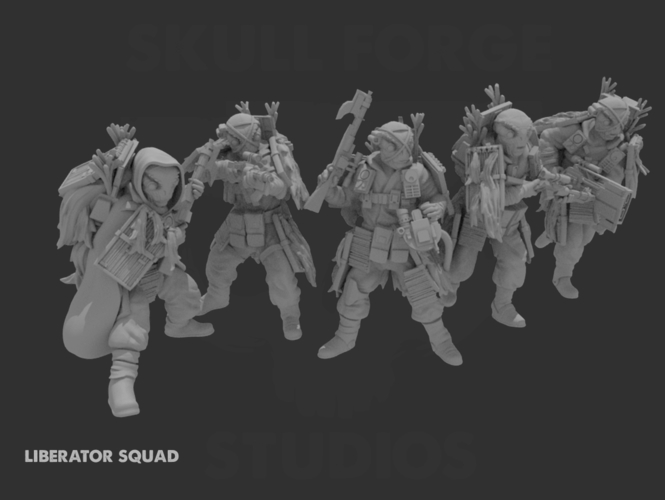 Liberator Squad Bundle *May the Fourth Discount* 3D Print 242655