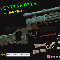 Small Boba Fett blaster EE 3 - Carbine Rifle - Star Wars for Cosplay 3D Printing 242669