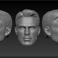Small Head Steve Rogers Movie version ( C. Evans) 3D Printing 242707