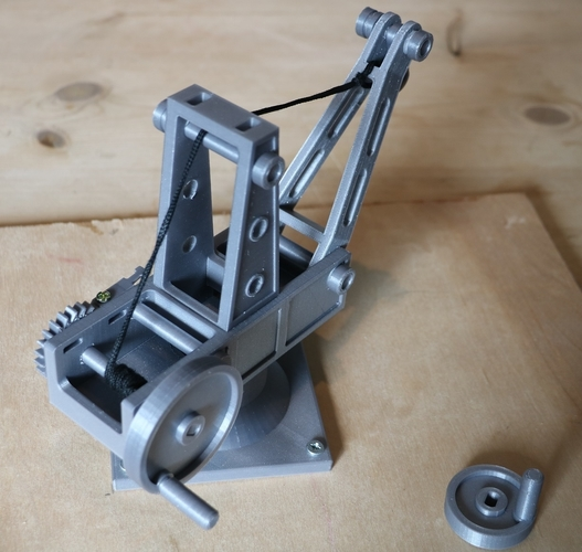 Mechanical Advantage Demonstration Crane 3D Print 242745