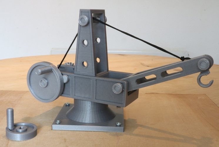 Mechanical Advantage Demonstration Crane 3D Print 242747