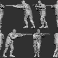 Small hf wargaming Militia Heift shooting with HMG 3D Printing 242835