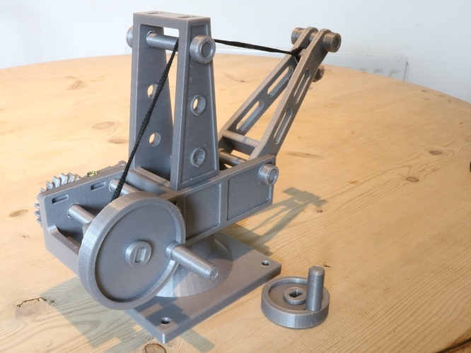 Mechanical Advantage Demonstration Crane 3D Print 242839