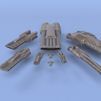 Small The Orion Republic - Miniature Starships 3D Printing 242861