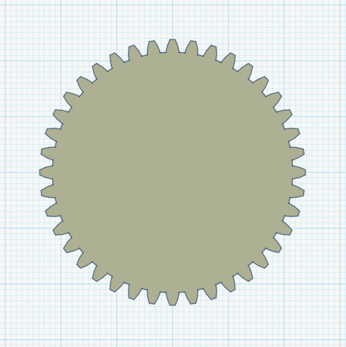 40mm Gear [for Lego] 3D Print 242882