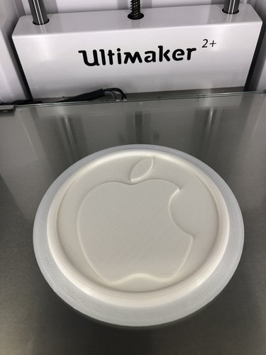 Coaster with Apple logo 3D Print 243103