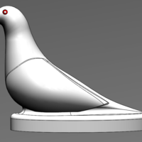 Small Pigeon Trophy 3D Printing 243109