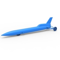 Small Diecast model Blue Flame jet car Scale 1:24 3D Printing 243117