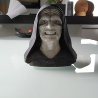 Small Palpatine (Darth Sidious) Bust 3D Printing 243137