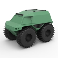 Small Diecast model THOR Ultimate ATV Scale 1:24 3D Printing 243208