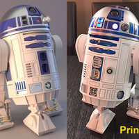 Small R2D2 HQ Print 3D New hope 42cm 3D print model 3D Printing 243319