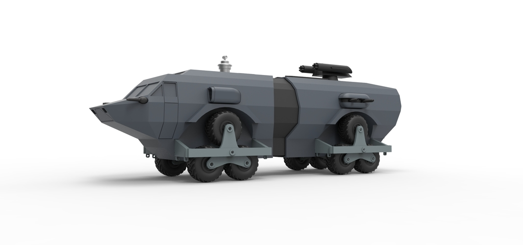 Diecast model Landmaster from Damnation Alley Scale 1:38 3D Print 243330